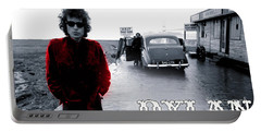 Bob Dylan Portable Battery Charger by Marvin Blaine