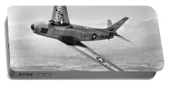 Portable Battery Charger featuring the photograph F-86 Sabre, First Swept-wing Fighter by Science Source