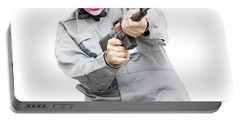 Female Psycho Killer Portable Battery Charger by Jorgo Photography - Wall Art Gallery