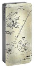 Fishing Reel Patent 1939 Portable Battery Charger by Jon Neidert