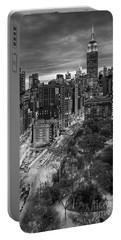 Flatiron District Birds Eye View Portable Battery Charger by Susan Candelario