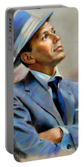 Frank Sinatra  Portable Battery Charger by Ylli Haruni
