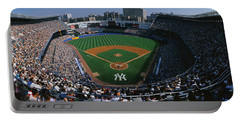 High Angle View Of A Baseball Stadium Portable Battery Charger by Panoramic Images