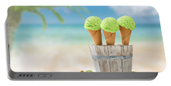 Ice Creams  Portable Battery Charger by Amanda Elwell