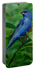Indigo Bunting Portable Battery Charger by Ken Everett