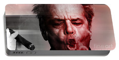 Jack Nicholson Portable Battery Charger by Marvin Blaine