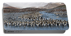 King Penguins Aptenodytes Patagonicus Portable Battery Charger by Panoramic Images