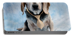 Kippy Beagle Senior And Best Dog Ever Portable Battery Charger by Iris Richardson