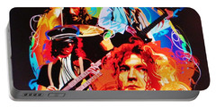 Led Zeppelin Art Portable Battery Charger by Donna Wilson