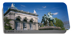 Low Angle View Of A Statue In Front Portable Battery Charger by Panoramic Images