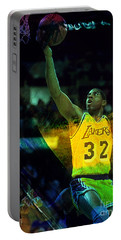 Magic Johnson Portable Battery Charger by Marvin Blaine