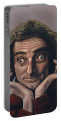 Marty Feldman Portable Battery Charger by Paul Meijering