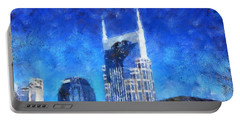 Nashville Skyline Portable Battery Charger by Dan Sproul