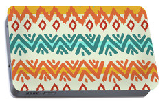 Navajo Mission Round Portable Battery Charger by Nicholas Biscardi