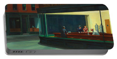 Nighthawks Portable Battery Charger by Edward Hopper