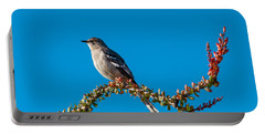 Northern Mockingbird Portable Battery Charger by Robert Bales