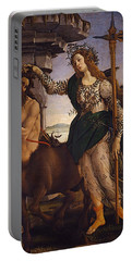 Pallas And The Centaur Portable Battery Charger by Sandro Botticelli