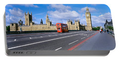 Parliament Big Ben London England Portable Battery Charger by Panoramic Images