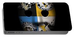 Penguins Goalie Mask Portable Battery Charger by Joe Hamilton