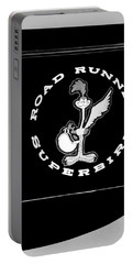 Road Runner Superbird Emblem Portable Battery Charger by Jill Reger