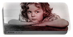 Shirley Temple Portable Battery Charger by Marvin Blaine