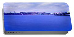 Tidal Basin Washington Dc Portable Battery Charger by Panoramic Images