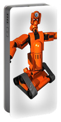 Toy Robot, Artwork Portable Battery Charger by Victor Habbick Visions