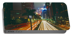 Traffic On The Road, Hong Kong, China Portable Battery Charger by Panoramic Images