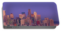 Usa, Washington, Seattle, Cityscape Portable Battery Charger by Panoramic Images