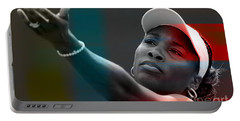 Venus Williams Portable Battery Charger by Marvin Blaine