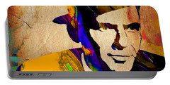 Frank Sinatra Portable Battery Charger by Marvin Blaine