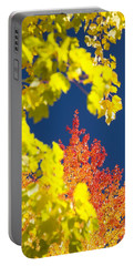Garden Path - Geese And Sunflowers Portable Battery Charger by John Bindon