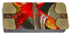 Saxophone Collection Portable Battery Charger by Marvin Blaine