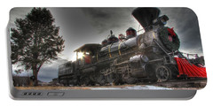 Portable Battery Charger featuring the photograph 1880 Train by Bill Gabbert