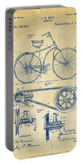 1890 Bicycle Patent Artwork - Vintage Portable Battery Charger by Nikki Marie Smith