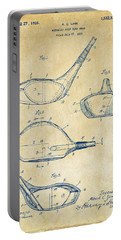1926 Golf Club Patent Artwork - Vintage Portable Battery Charger by Nikki Marie Smith
