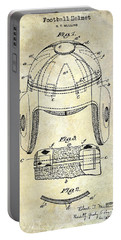 1929 Football Helmet Patent Drawing Portable Battery Charger by Jon Neidert