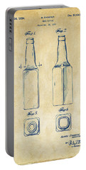 1934 Beer Bottle Patent Artwork - Vintage Portable Battery Charger by Nikki Marie Smith