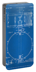 1939 Snare Drum Patent Blueprint Portable Battery Charger by Nikki Marie Smith