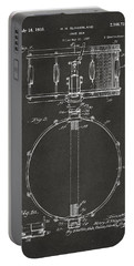 1939 Snare Drum Patent Gray Portable Battery Charger by Nikki Marie Smith