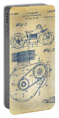 1941 Indian Motorcycle Patent Artwork - Vintage Portable Battery Charger by Nikki Marie Smith