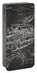 1946 Jet Aircraft Propulsion Patent Artwork - Gray Portable Battery Charger by Nikki Marie Smith