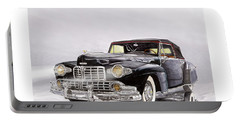 1946 Lincoln Continental Convertible Foggy Reflection Portable Battery Charger by Jack Pumphrey