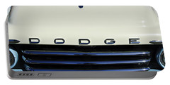 1958 Dodge Sweptside Truck Grille Portable Battery Charger by Jill Reger