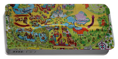 1971 Original Map Of The Magic Kingdom Portable Battery Charger by Rob Hans