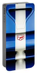 1998 Dodge Viper Gts-r Grille Emblem Portable Battery Charger by Jill Reger