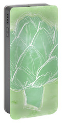Artichoke Portable Battery Charger by Linda Woods