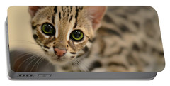 Asian Leopard Cub Portable Battery Charger by Laura Fasulo