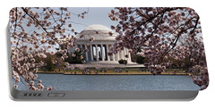 Cherry Blossom Trees In The Tidal Basin Portable Battery Charger by Panoramic Images
