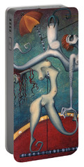 Doctor Vultura's Proportional Sky-fish Daughters  Portable Battery Charger by Kelly Jade King